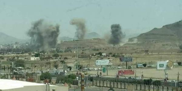 غارات جوية لمقاتلات التحالف على مواقع في العاصمة صنعاء