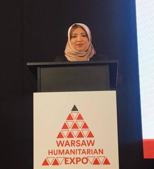 السفيرة مجلي تشارك في مؤتمر وارسو للمساعدات الإنسانية