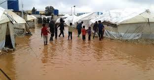 وحدة النازحين : 1529 اسرة نازحة تضررت من الامطار والسيول في ثلاث محافظات