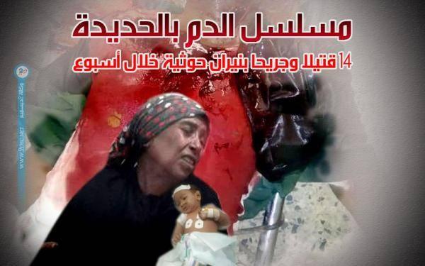 14 قتيلاً وجريحاً مدنياً بنيران مليشيا الحوثي بالحديدة خلال أسبوع واحد..! – (تفاصيل)